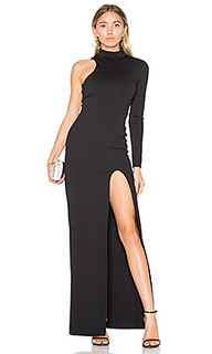 One sleeve mock neck maxi dress - Donna Mizani