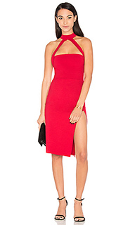 Cut out strapped mock midi dress - Donna Mizani