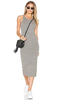 Облегающее миди платье в рубчик - Enza Costa