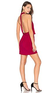 Мини платье с перекрестными шлейками спереди - krisa