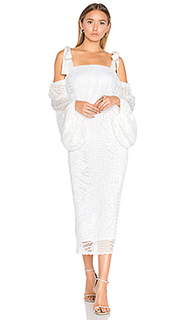 Pulitzer drape sleeve midi dress - Rebecca Vallance