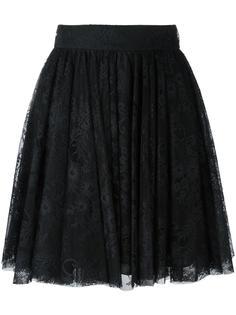 юбка в складку с кружевным верхним слоем Philosophy Di Lorenzo Serafini