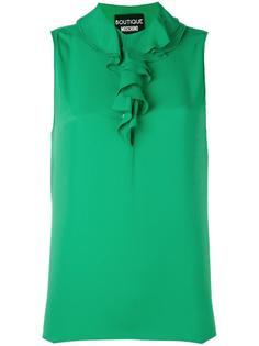 блузка без рукавов с рюшами Boutique Moschino