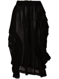 асимметричная многослойная юбка-карандаш Comme Des Garçons Comme Des Garçons