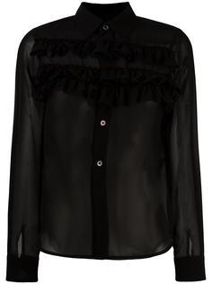полупрозрачная юбка с оборками Comme Des Garçons Comme Des Garçons
