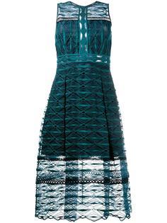 вышитое кружевное платье длины миди Jonathan Simkhai