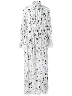 платье макси 'Dandelion' со сборками Kenzo