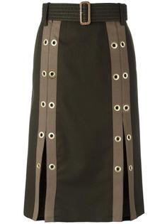 юбка с люверсами Sacai