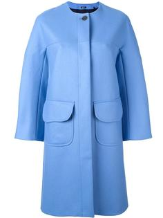однобортное пальто Jil Sander Navy
