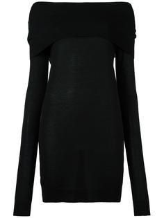 свитер с открытыми плечами  Jil Sander