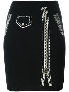 юбка с принтом тромплей  Moschino