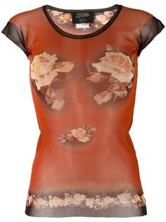 футболка с принтом роз Jean Paul Gaultier Vintage