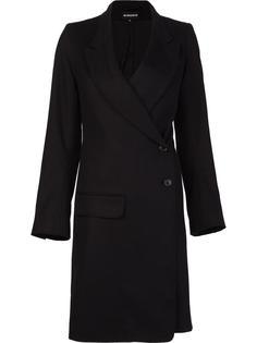 пальто с диагональной застежкой на пуговицы Ann Demeulemeester