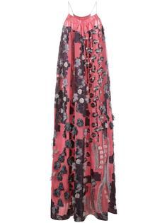 платье fil coupé с цветочным узором Chloé