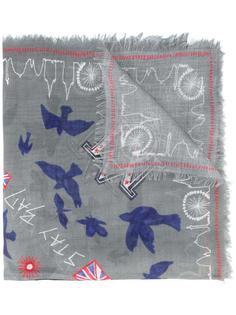 шарф 'London' с рисунком Alexander McQueen