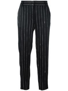 атласные брюки в тонкую полоску DKNY