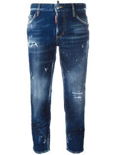 укороченные джинсы-бойфренды Dsquared2