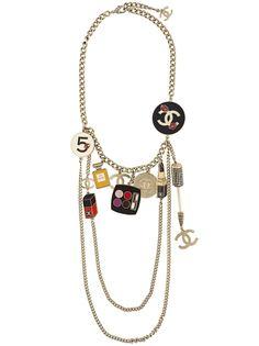 цепочное ожерелье с подвесками Chanel Vintage