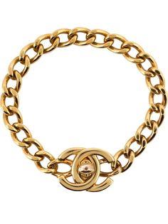 Цепочный браслет с логотипом Chanel Vintage