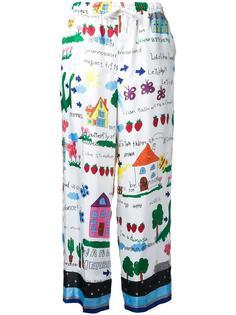 брюки с графическим принтом Muveil
