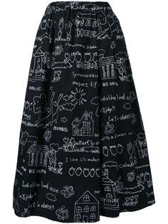 юбка А-силуэта с графическим принтом Muveil