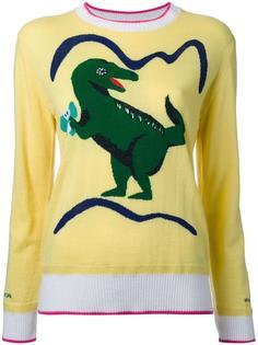 джемпер с принтом-интарсией динозавра Muveil