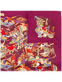 платок с прином обуви Salvatore Ferragamo