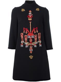 платье с вышивкой Dolce & Gabbana