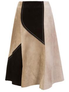 лоскутная юбка А-образного кроя Derek Lam