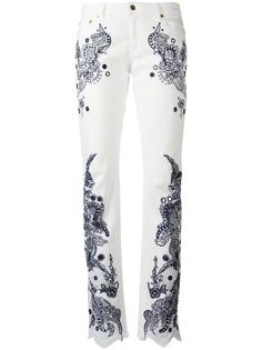 брюки с вышивкой Roberto Cavalli