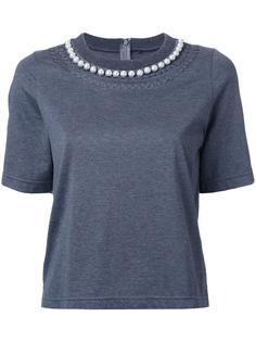 футболка с жемчужным украшением Muveil