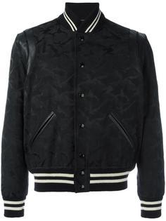 университетская куртка с камуфляжным принтом Saint Laurent