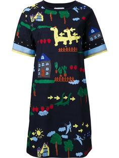 платье-футболка с принтом Muveil
