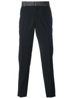 брюки прямого кроя с принтом на поясе Alexander McQueen