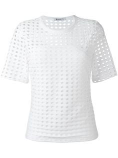 футболка с перфорацией T By Alexander Wang