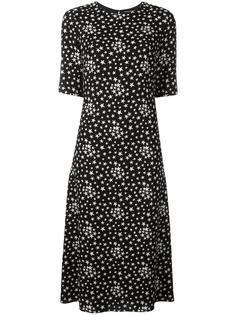 платье с принтом звезд Saint Laurent