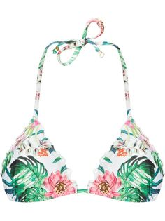 printed triangle bikini top Amir Slama
