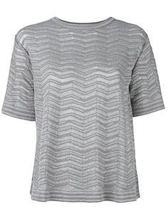 футболка с отделкой металлик M Missoni