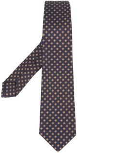 галстук с цветочным узором Kiton