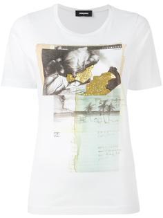 футболка с принтом коллажа Dsquared2