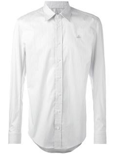 рубашка в полоску с вышитым логотипом Vivienne Westwood Man