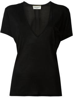 футболка c V-образным вырезом  Saint Laurent