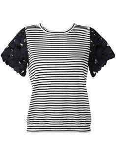 полосатая футболка с кружевными рукавами Dorothee Schumacher