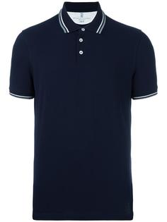 футболка-поло с воротником в полоску Brunello Cucinelli
