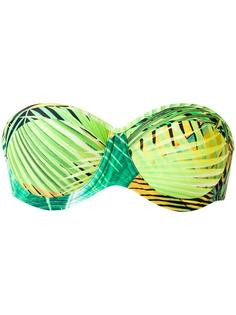 printed bandeau bikini top Lygia & Nanny