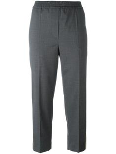 укороченные брюки с контрастными полосками Brunello Cucinelli