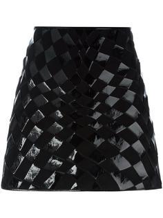 юбка с плетеным дизайном Versus