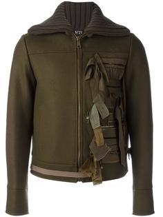 куртка с декоративными лентами Nº21