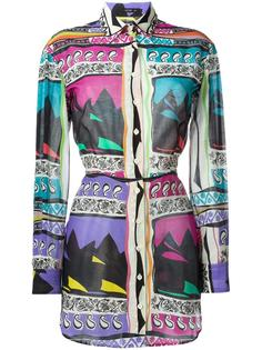длинная рубашка с принтом Etro