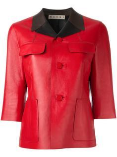 куртка с контрастным воротником Marni